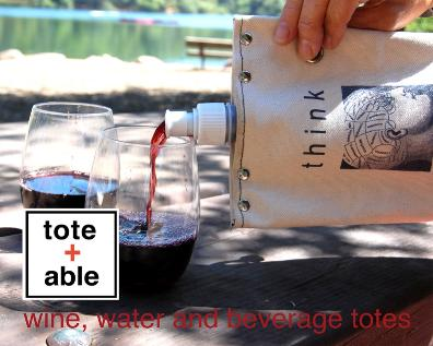 tote + able wine, water and beverage totes